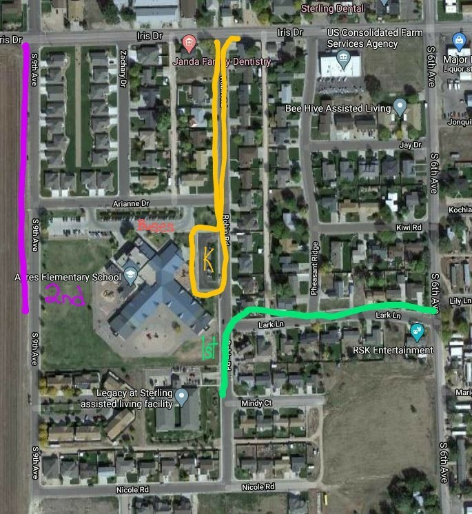 Ayres Arrival and Dismissal Map